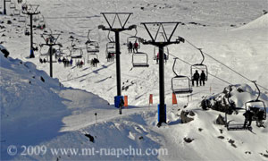 Skilift at Turoa skifield on Mt Ruapehu